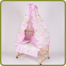 Bed side cot all inclusive 90x40cm, rose - Betten