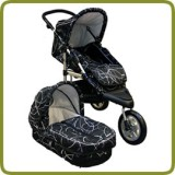 3 wheeler pram + carry cot black - Kinderwagen und Travelsystem